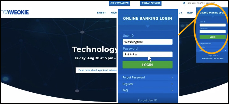 Online Banking First Time Log In Experience