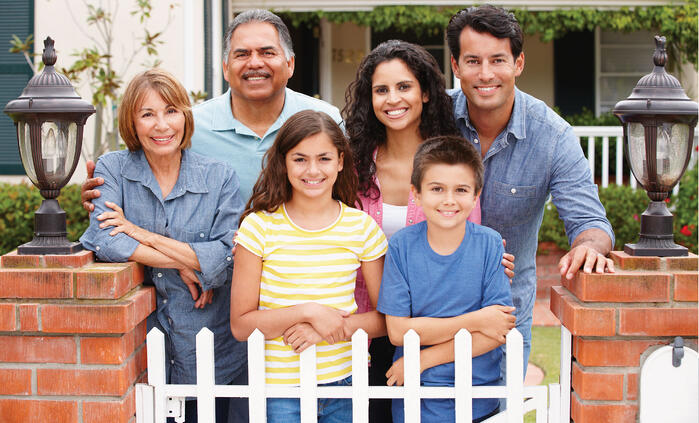 Family in front of home.  ITINmortgage loan-01