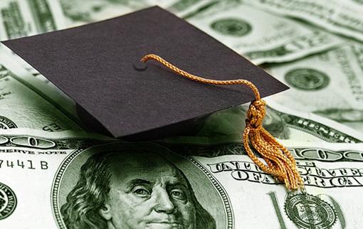 Scholarship cap over money
