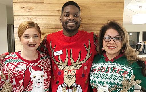 WEOKIE Employees in Christmas Sweaters