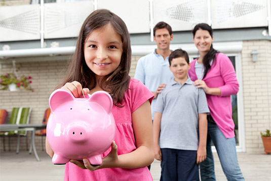 little girl w fam savings