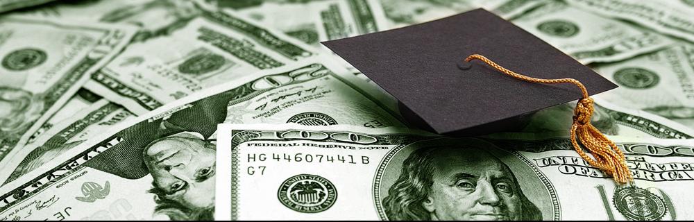 money with small graduation cap